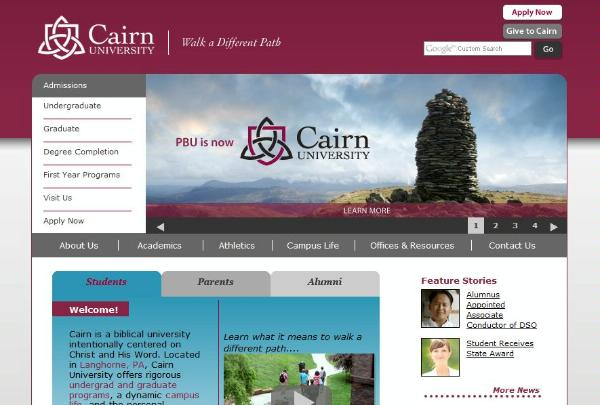 Cairn University Website Image