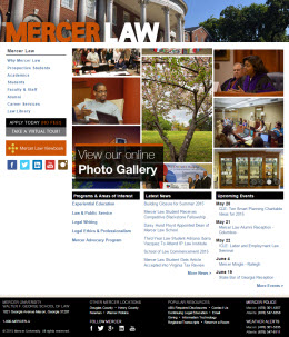 Mercer University Walter F. George School of Law home page