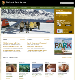 National Park Service Homepage