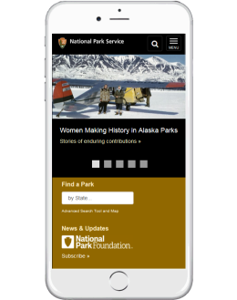 NPS Mobile friendly homepage