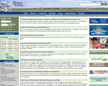 National Cotton Council Web page