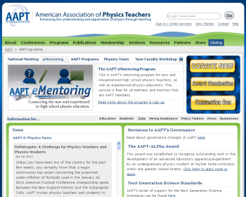 American Association of Physics Teachers Web page