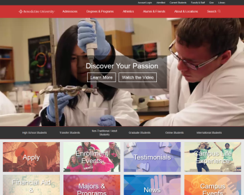 Benedictine University Web page