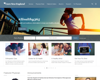 Care New England Health System Web page