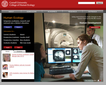 Cornell University College of Human Ecology Web page