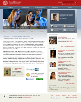 Cornell University Career Services Home Page