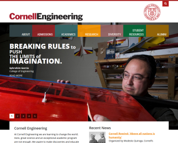 Cornell University College of Engineering Web page