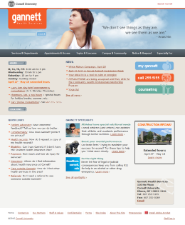 Cornell Gannett Health Services Home Page