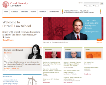 Cornell University Law School Web page