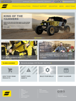 ESAB North America Home Page