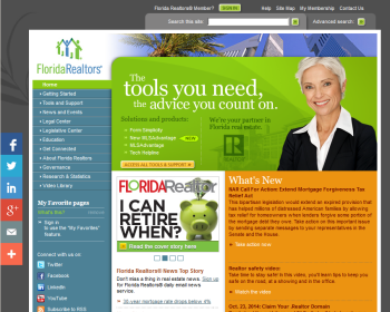 Florida Association of Realtors Web page