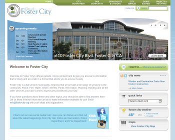 City of Foster City California Web page
