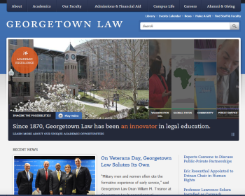 Georgetown University Law Center Web page