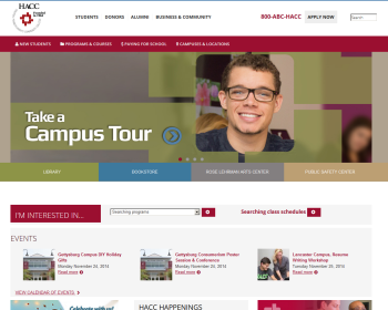 Harrisburg Area Community College Web page