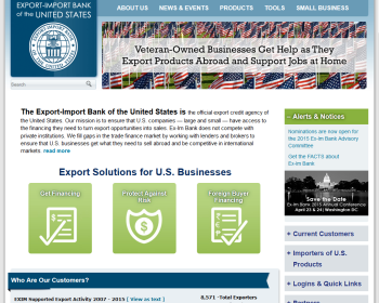 Export-Import Bank of the United States Web page
