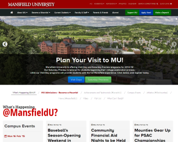Mansfield University Web page