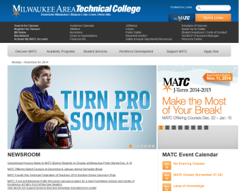 Milwaukee Area Technical College Web page