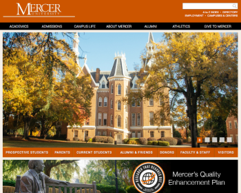 Mercer University Web page