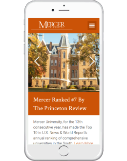 Mercer Mobile Homepage