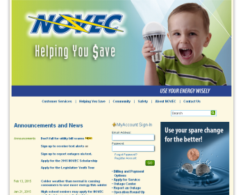 Northern Virginia Electric Cooperative Web page