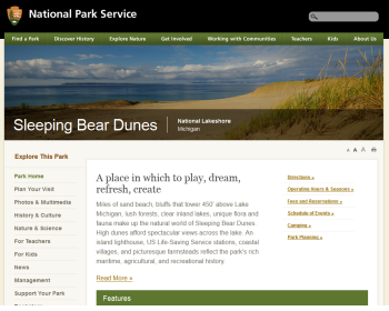 National Park Service Web page