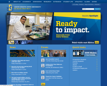 South Dakota State University Web page
