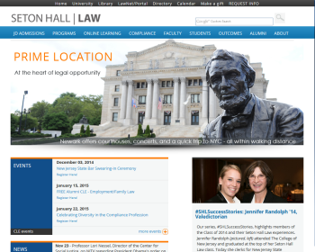 Seton Hall University School of Law Web page