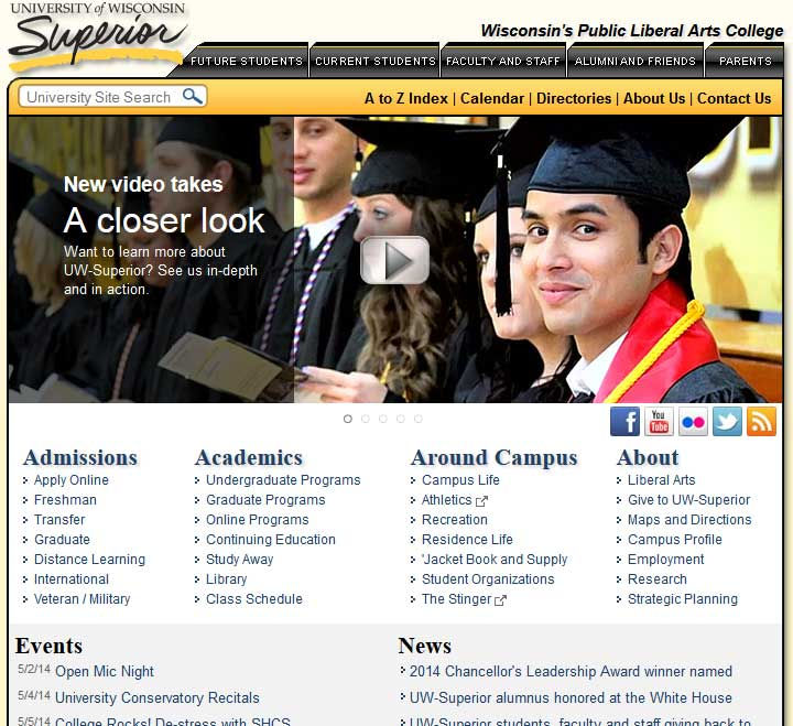 university-of-wisconsin-superior-website-page-1