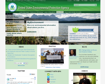 US Environmental Protection Agency (EPA) Web page