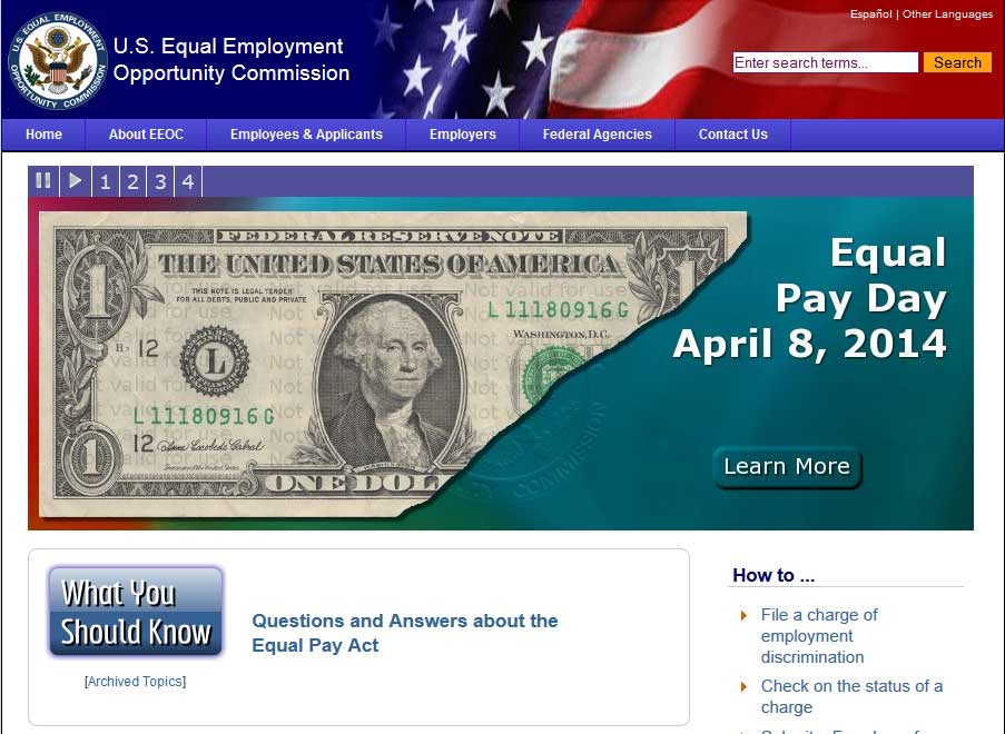 us-equal-employment-opportunity-commission-website-page-1