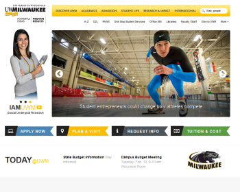 University of Wisconsin-Milwaukee Web page