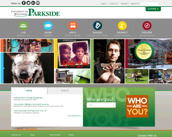 University of Wisconsin-Parkside Web page