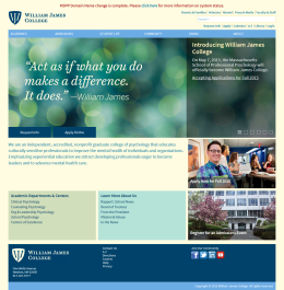 William James College Home Page