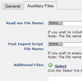Export Auxiliary Files dialog::Export Auxiliary Files