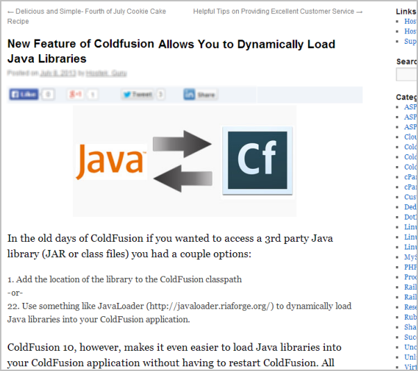 ColdFusion and Java
