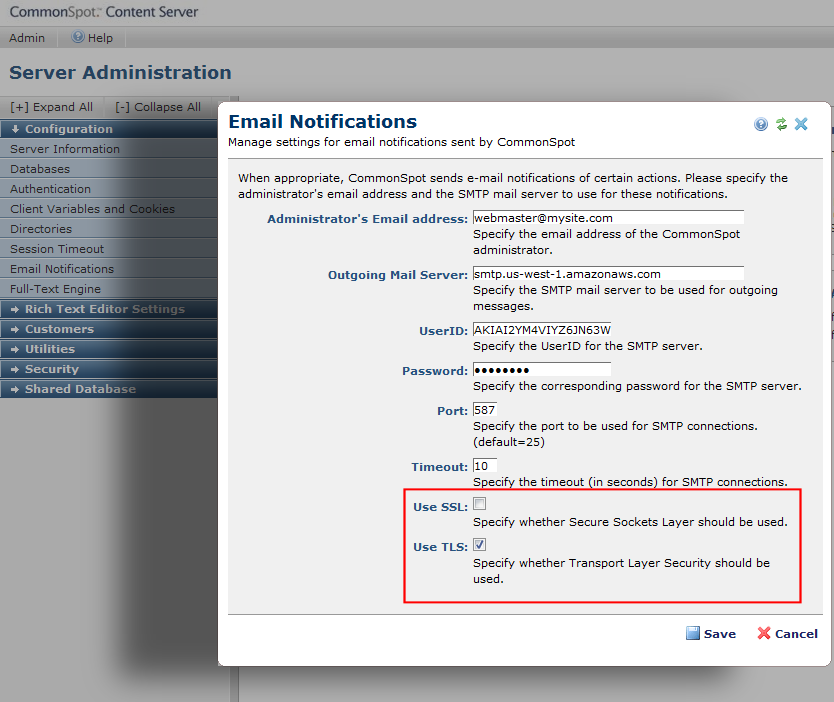 Email Notification - Configuration