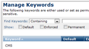 Keyword Management Feature Thumbnail
