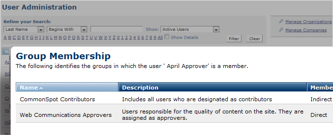 Group Membership - Nested Groups