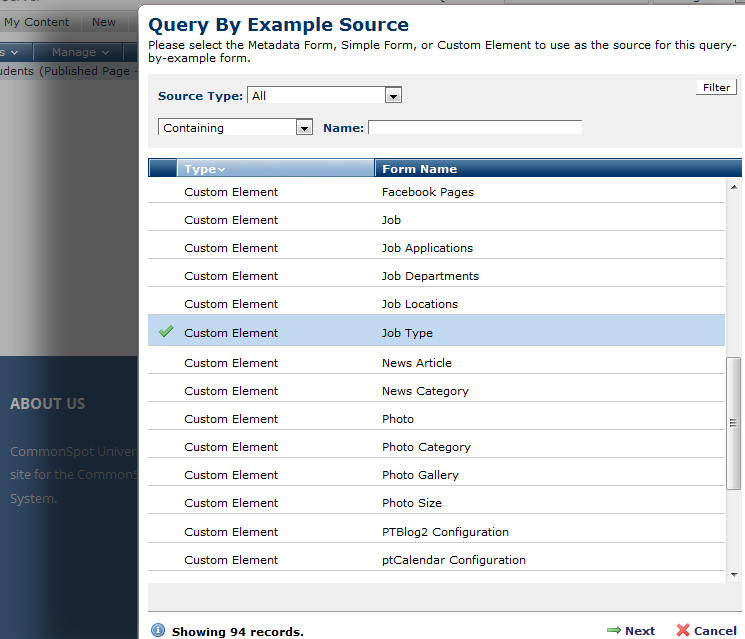 Query-by-Example Source