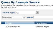 Query by Example Forms Feature Thumbnail