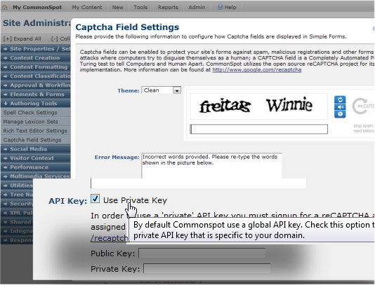 Security - CAPTCHA