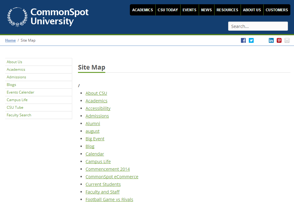 Sitemap for Web