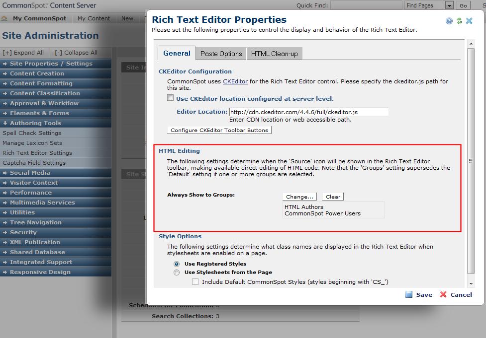 WYSIWYG Editor with HTML Cleanup